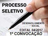 Prefeitura de Areal divulga a primeira convocação dos candidatos do Edital 004/2017 do Processo Seletivo Público Simplificado